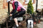 Louise finds a puncture proof bike at last!.